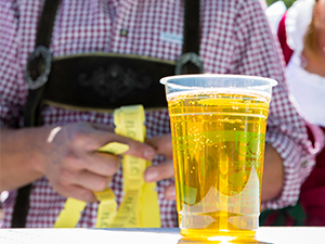 Glass of beer at Frisco Fall Fest